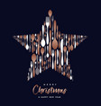 christmas and new year copper cutlery star card vector image