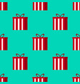 christmas gifts seamless pattern - great for vector image vector image