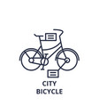 city bicycle line icon concept city bicycle vector image vector image