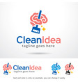 clean idea logo template vector image vector image