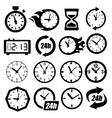 clocks icon vector image vector image