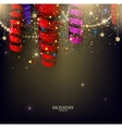 Colorful confetti and ribbons Holiday background vector image