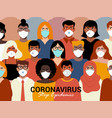 concept coronavirus quarantine 3 vector image vector image