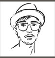 concept of hipster line art vector image