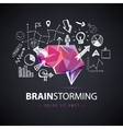 creative logo brainstorm creating new vector image