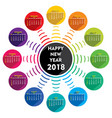 creative new year 2018 calendar template design vector image vector image