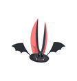 cute funny cartoon halloween bat character with vector image vector image