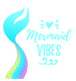 cute mermaid tail vector image vector image