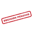 Decision Pending Text Rubber Stamp vector image vector image