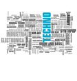 Electronic Techno Music Styles Word Cloud Bubble vector image vector image