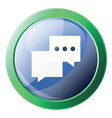 facebook chat round icon on a white background vector image vector image