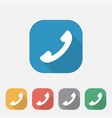 flat icon telephone sign vector image vector image