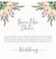 floral flowers botanical decoration dots wedding vector image vector image