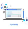forum vector image vector image