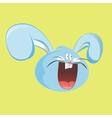 Funny hare head screaming Cartoon design vector image