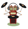 Funny jukebox vector image vector image