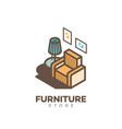 furniture store logo vector image
