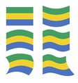 Gabon flag Set of flags of Gabonese Republic in vector image vector image