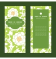 green and golden garden silhouettes vector image vector image