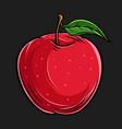 hand drawn fresh apple fruit vector image vector image