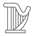 harp line icon sign on vector image vector image