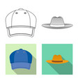 headgear and cap sign vector image vector image