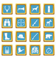 hunting icons azure vector image vector image