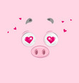 in love piggy vector image vector image