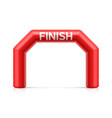 inflatable finish line arch red