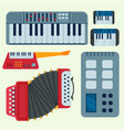 keyboard musical instruments isolated vector image vector image