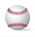 leather baseball ball vector image vector image
