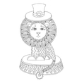 line art of circus theme - lion in a vector image
