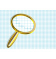 magnifier on checkered paper vector image vector image