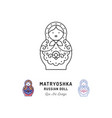 matryoshka icon russian nesting doll thin line art vector image