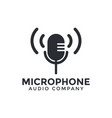 microphone icon graphic design template vector image vector image