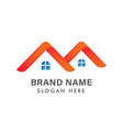 modern real estate logo design creative house vector image