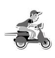 motorcycle man transportation delivery design vector image vector image