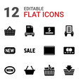 purchase icons vector image vector image