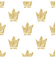 seamless pattern with abstract hand drawn golden vector image vector image
