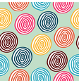 Seamless retro colored circle background vector image