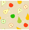 Seamless with apples and pears vector | Price: 1 Credit (USD $1)