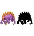 set dinosaur cartoon character and its vector image vector image