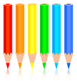 Set of colored pencil vector image vector image