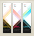 set of vertical abstract display banner background vector image vector image