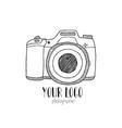 sketch a photo camera drawn hand vector image vector image