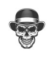 skull in the bowler hat vector image vector image