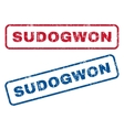 Sudogwon Rubber Stamps vector image vector image