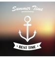 Summer design on blured background vector image