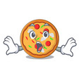 surprised pizza mascot cartoon style vector image vector image