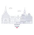 szczecin city skyline vector image vector image